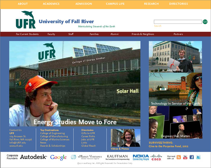 University of Fall River Website